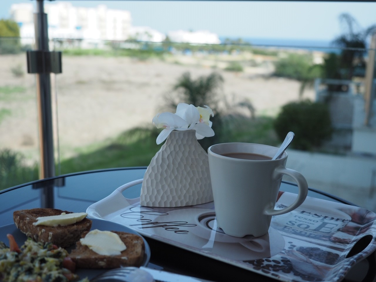 coffee time with sea view