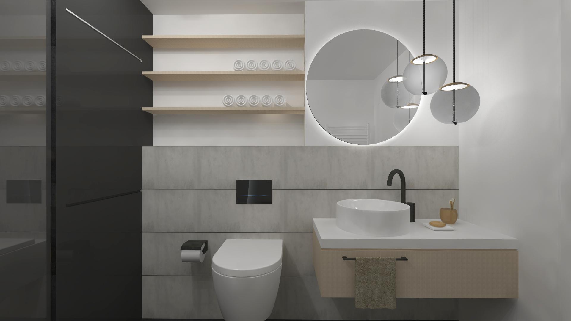 koupelna black pohled na umyvadlo
